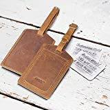 S-ZONE Leather Luggage Tags Baggage Tags ID Labels