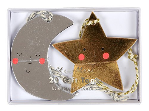 Balloons Gift Tag (Meri Meri Moon and Stars Gift Tags 65-0188, Set of 20 in 2 Designs)
