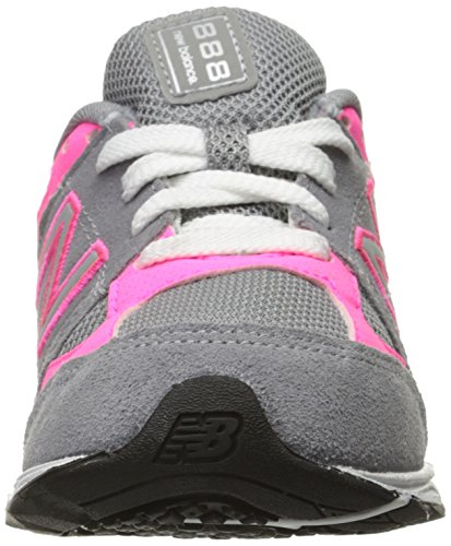 New Balance kj888 V1 Pre Zapatilla de Running (Little Kid) Gris/rosado