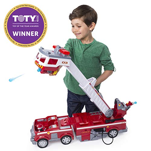 (Paw Patrol Ultimate Rescue Fire Truck with Extendable 2'. Tall Ladder, for Ages 3 & Up)