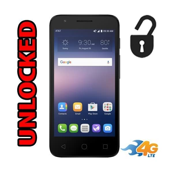 alcatel Alcatel OneTouch Ideal 4G LTE AT&T GSM Unlocked 4060A Android 5MP 8GB Smartphone – Black 51ag6imge5L
