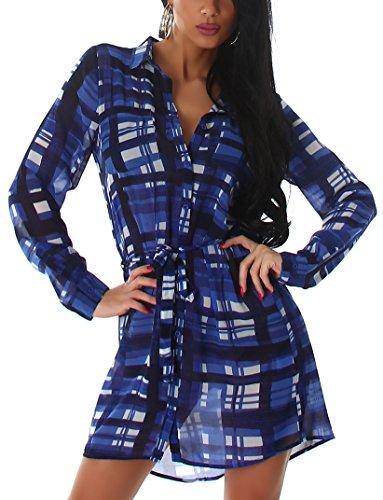 Voyelles - Vestido - Túnica - para mujer Azul