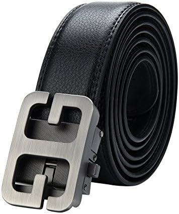 کمربند لباس چرمی مردانه قابل تنظیم 30-55 اینچ با دست و پنجه نرم خودکار (40-43 اینچ ، G سیاه)