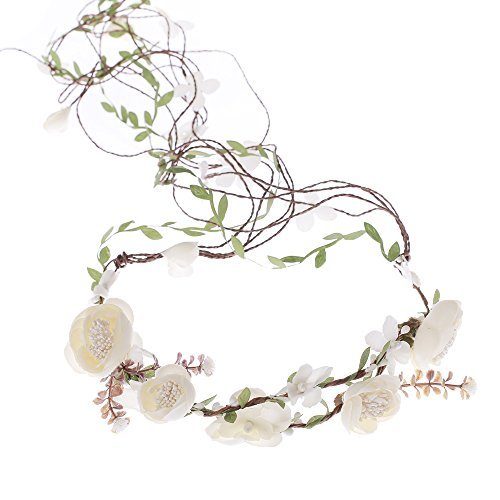 Flower Head Wreath - Ever Fairy Berries Flower Crown with Adjustable Vines Tiaras Necklace Belt Party Decoration Wedding Festivals