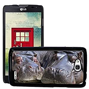 Hot Style Cell Phone PC Hard Case Cover // M00114862 Hippo Mammal Wildlife Nature Wild // LG Optimus L90 D415