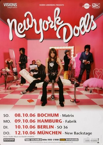 New York Dolls - Dance Like A Monkey 2006 - Poster, Concertposter, ()