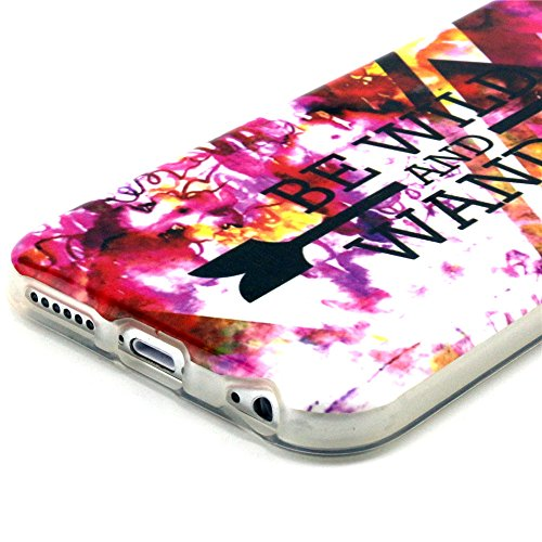 PowerQ [ para IPhone6 IPhone 6 6G - 2 ] Patrón TPU Caja colorida Serie Bolsa Imprimir patrón de impresión dibujo Celular caso móvil de la cubierta suave Proteja la piel Case Cover Caso 56