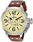 TW Steel Men's TW3 Canteen Black Leather Chronograph Dial Watch
