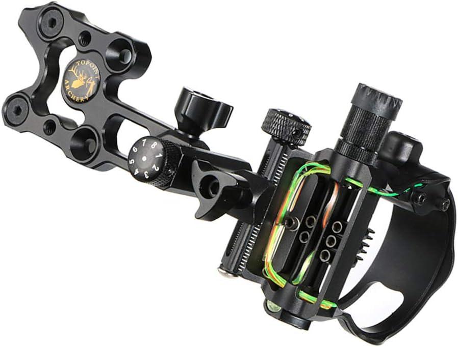 SM SunniMix 5 Pin Bow Sight .019Fibre Micro Compound Bow Sight Chasse /à larc Accessoires