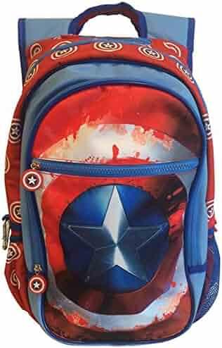 BB Designs Marvel Comics Civil War Captain America Shield Backpack  (Blue Red, One Size 3b5e3487f8