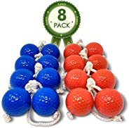 Kayco Outlet - Tournament Quality Ladder Balls Replacement – 8 Pack - for Outdoor Ladderball Toss and Golf Gam