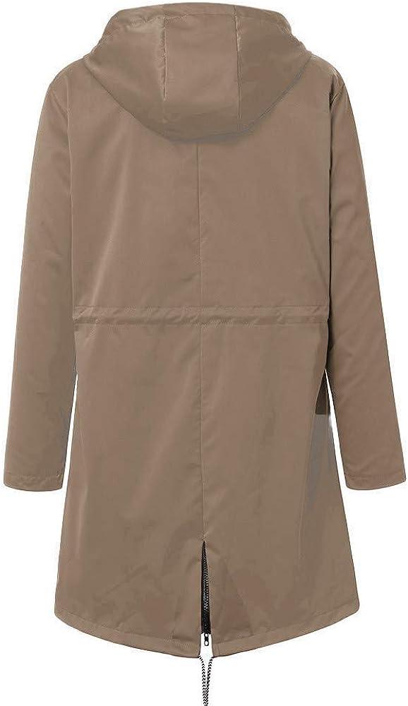 HENWERD Rain Jackets Women/'s Waterproof Raincoat with Hood Lightweight Packable Windbreaker