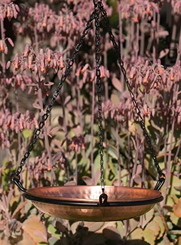 Monarch Abode 17065 Hanging Hammered Copper Bird Bath by Monarch Abode (Image #4)
