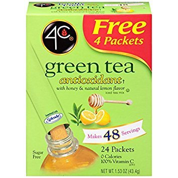 - 4C Iced Tea Stix Totally Light Tea2Go Green Tea Antioxidant with Honey - 6 Pack