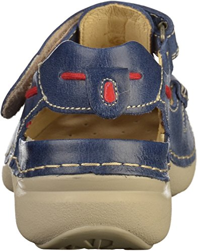 Summer Blue Leather 30870 nbsp;Rolling Sandalias 7201 Summer wolky 8wXYqf8