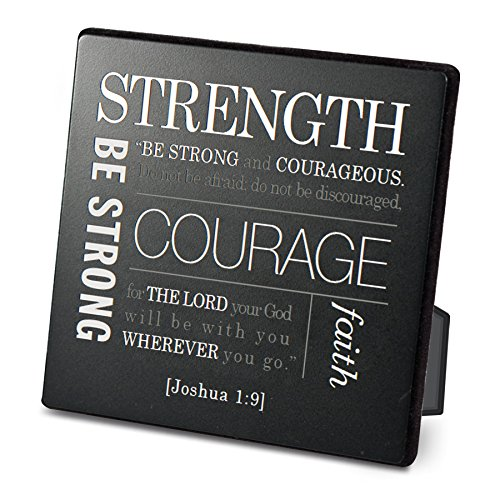 Lighthouse Christian Products Strength Metal & Wood Plaque