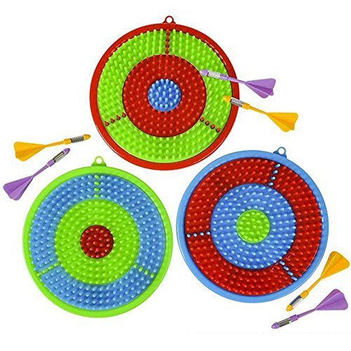 - Gamie Dart Board Set for Kids | Includes 3 Dartboards and 6 Darts | Kid-Safe Dartboard Kit for Boys and Girls | Great Gift/ Party Activity/ Bedroom Wall Decor Idea (Red, Blue and Green)