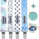 Pacifier Clip by Dodo Babies Pack of 4 + Pacifier Case...