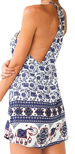 erdbeerloft - Vestido - Sin mangas - Opaco - para mujer Azul