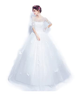 e895fd0cbb03f ウエディングドレス 花嫁 二次会 ドレス 結婚式 ドレス マタニティ エンパイア エンパイアライン・パールと刺繍