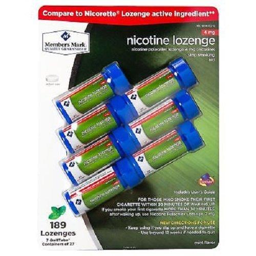 Member's Mark Nicotine Lozenges (7 Quit Tubes)