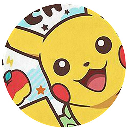HHCZX Pikachu Modern Flannel Microfiber Non-Slip Round Area Rugs Super Soft Living Room Bedroom Carpet Woman Yoga Mat -