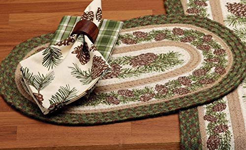 (BLACK FOREST DECOR Pinecone Medley Braided Jute Placemat)
