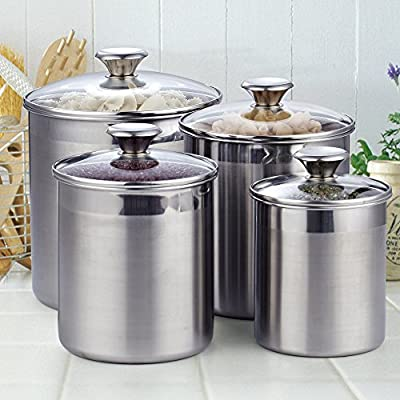 Cooks Standard 02553 4Piece Canister Set Stainless Steel