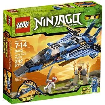 Amazon.com: LEGO Ninjago Jay's Storm Fighter 9442: Toys ...
