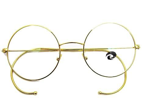 Amazon.com: Agstum Retro Round Optical Rare Wire Rim Eyeglass Frame ...