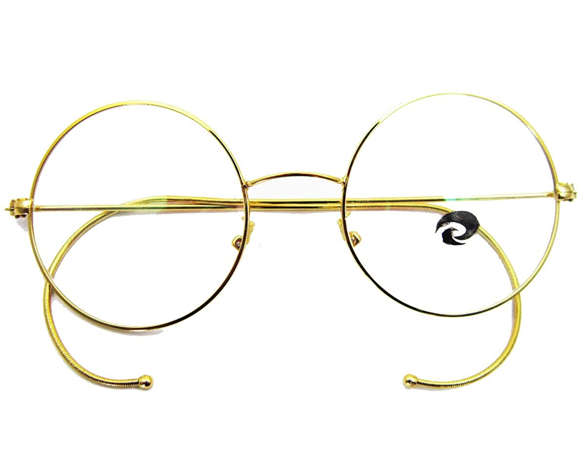 37cc21439e7 Agstum retro round optical rare wire rim eyeglass frame gold clothing jpg  1200x936 Wire rim eyeglass