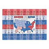 Hoffmaster 311136 Us State Facts Placemat, 9.75'' Length x 14'' Width (Pack of 1000)
