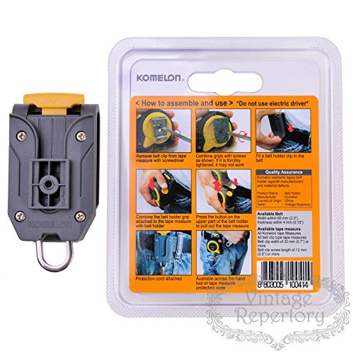 Komelon Quick-Draw Belt Clip Holder Tools for Measuring Tape by Komelon