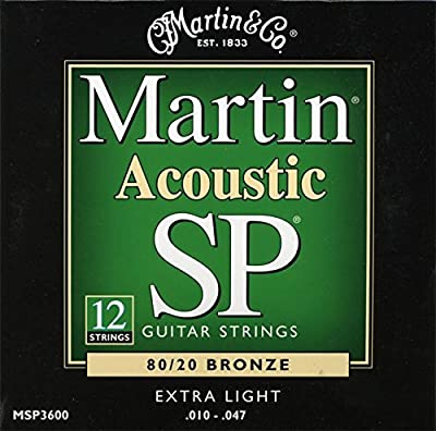 Martin MSP3600 SP 80/20 Bronze 12-String Acoustic Guitar Strings, Extra Light from C.F. Martin & Co.