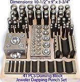 41 PCS Jeweler Doming Block Dapping Punch Set