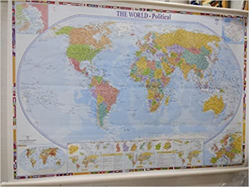 Buy world political map school office map wall map huge size buy world political map school office map wall map huge size 140x100cm book online at low prices in india world political map school office map wall map gumiabroncs Gallery