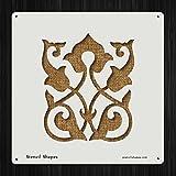 Ornament Design Floral Islam Islamic Style 14650 DIY Plastic Stencil Acrylic Mylar Reusable