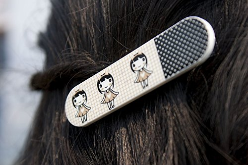 Home Comforts Print on Metal Hair Clip Hairstyle Clip Girl Female Style Hair Print 12 x 18. Worry Free Wall Installation - Shadow Mount is Included.