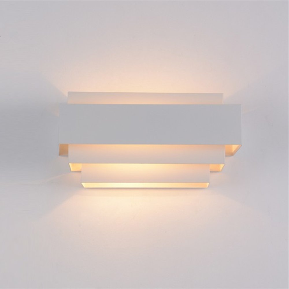Deccoroom Modern LED Wall Light Lamp up and Down Wall Sconce Decoration Perfect for Living Room Bedroom Warm White(Light Bulb Include)