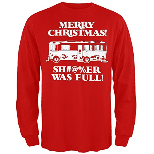 Christmas Vacation - Shitter Was Full Red Long Sleeve - 3X-Large (Griswold Merchandise compare prices)
