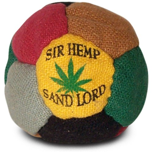 Sir Hemp Sand Lord Footbag Hacky Sack. 12 panel Hemp sand-filled footbag, assorted colors
