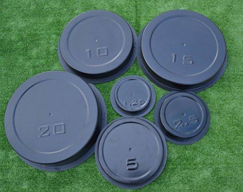 Betonex Set 6 pcs MOLDS Casting Concrete Weight Plates Barbell Discs Olympic Lifting ()