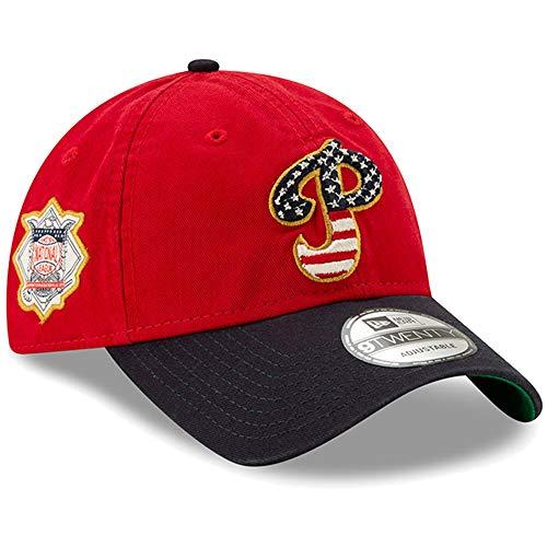 New Era Philadelphia Phillies 2019 Stars & Stripes 4th of July 920 9TWENTY Adjustable Cap ()