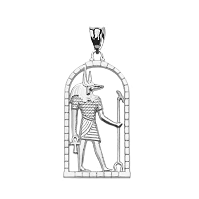 Amazon sterling silver egyptian anubis pendant jewelry sterling silver egyptian anubis pendant aloadofball Images