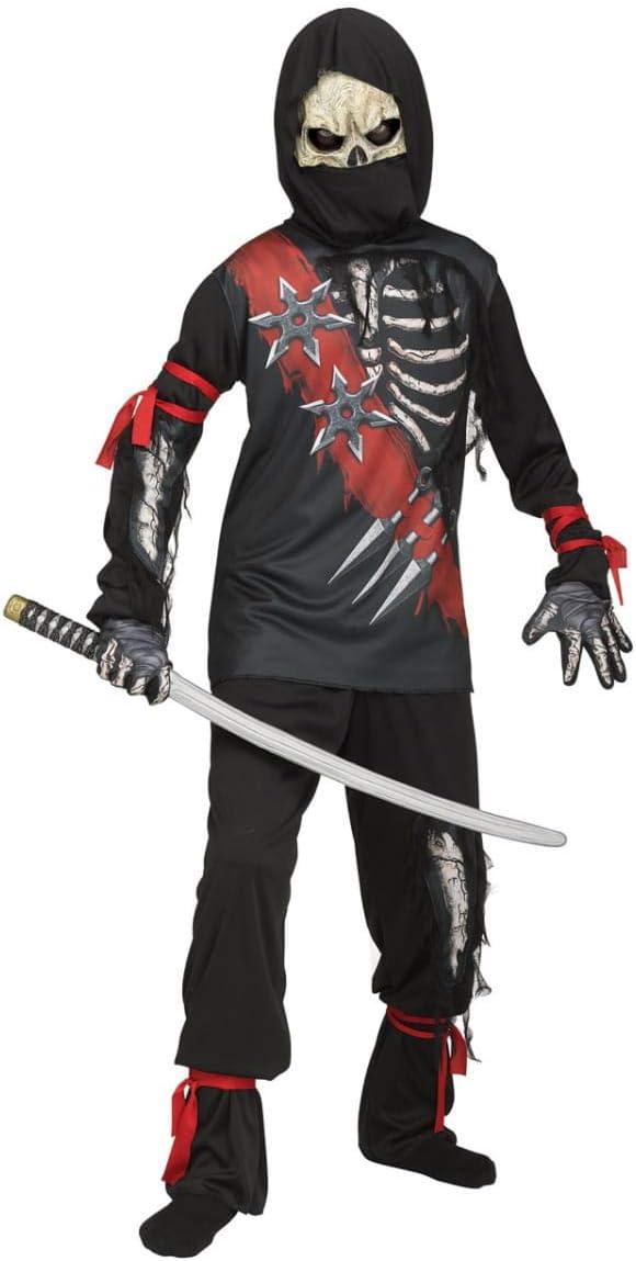 Horror-Shop Disfraz de Zombie Ninja para niños M: Amazon.es ...