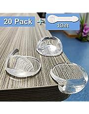 Niviy 20 Stück Eckenschutz und Kantenschutz für Kindersicherung Geruchlos Transparent Hochleistungskleber + 1 Geschenk, für Möbel Ecken Tischschutz, Schützen Sie die Sicherheit von Babys