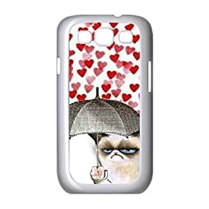 Jumphigh Cute Grumpy Cat Samsung Galaxy S3 Case Sad Grumpy Cat for Women Protective, Samsung Galaxy S3 Case for Woman, {White}