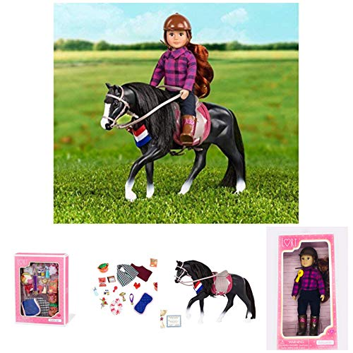 - Our Generation Holiday Bundle ! Lori Riding Doll Samanda ...and ...Lori Horse (Black Irish Draught Horse ) Fashionable Accessories The 6