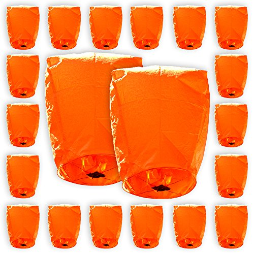 Just-Artifacts-ECO-Wire-Free-Flying-Chinese-Sky-Lanterns-Set-of-20-Eclipse-Orange-100-Biodegradable-Environmentally-Friendly-Lanterns