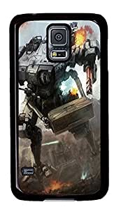 Samsung S5 rugged cover Mech Warrior Art PC Black Custom Samsung Galaxy S5 Case Cover